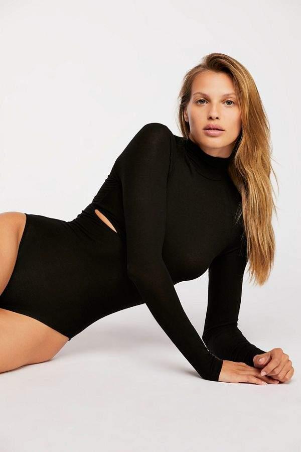 e7aa5e7279f Only Hearts Rib Slash Mockneck Bodysuit | Products | Bodysuit, Mock ...