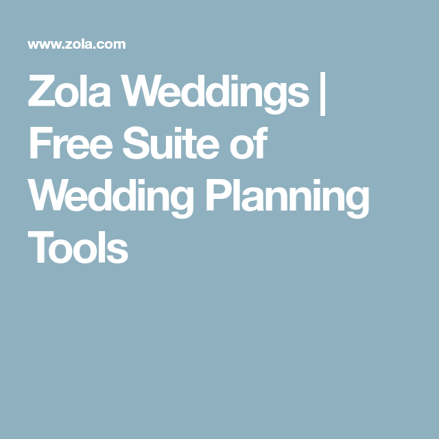 Free Suite Of Wedding Planning Tools