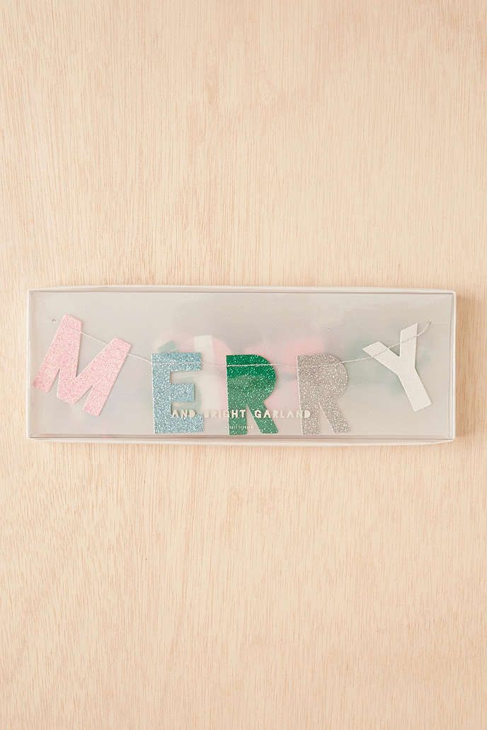 Meri Meri Merry And Bright Banner - Urban Outfitters