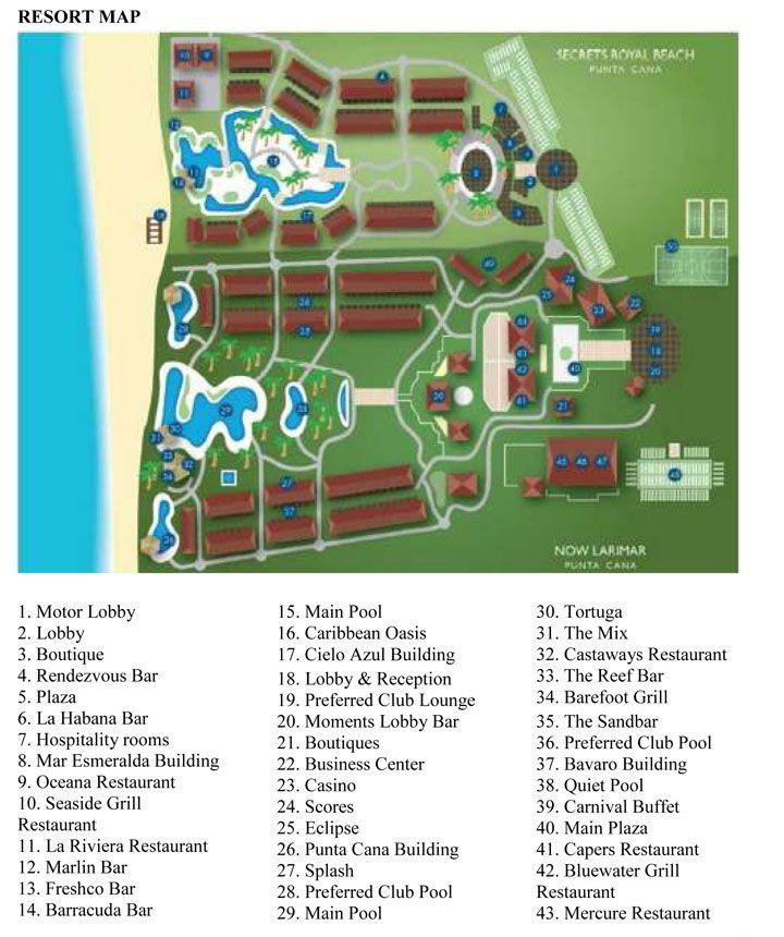 Secrets Punta Cana Dominican Republic Resort Map Punta Cana Beach Dominican Republic Resorts Punta Cana