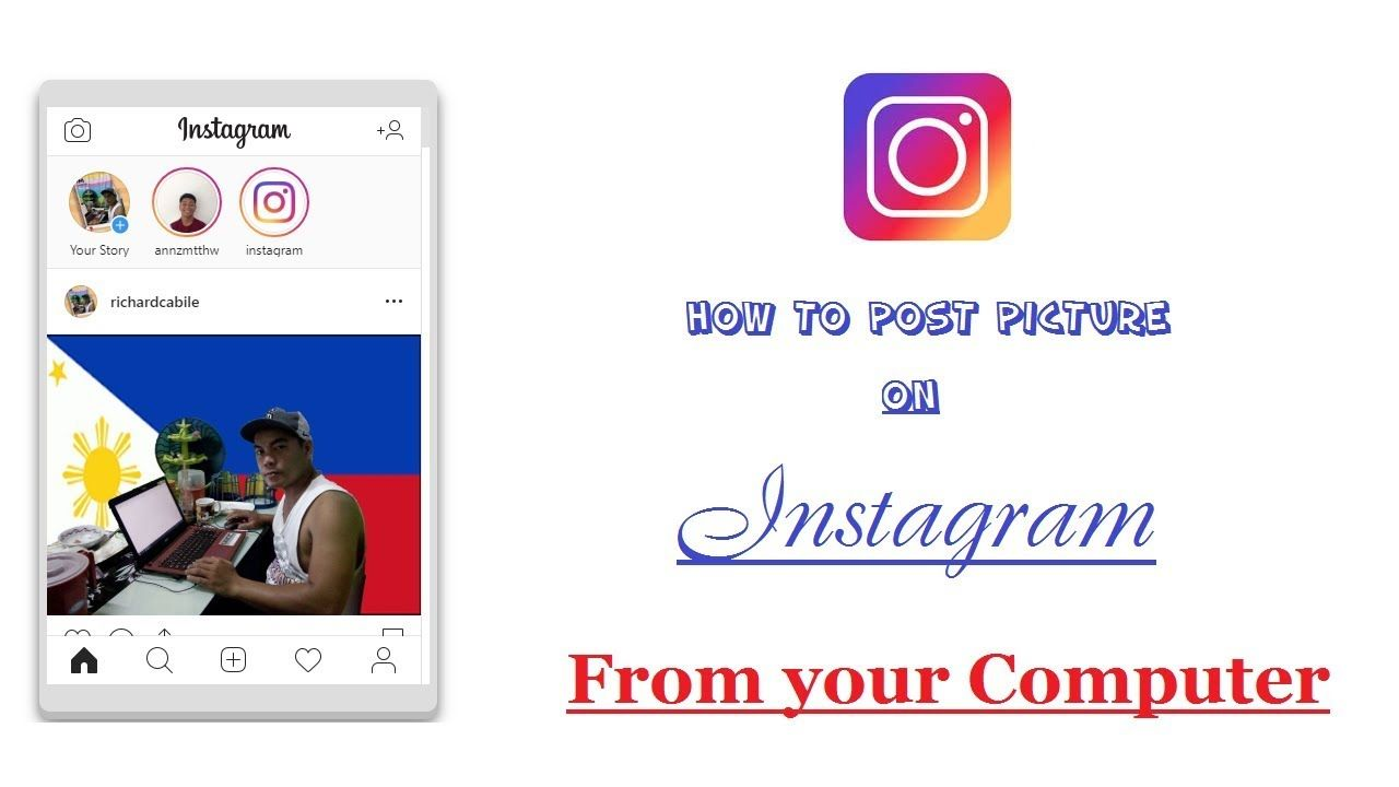 How to post on instagram from pc 2018