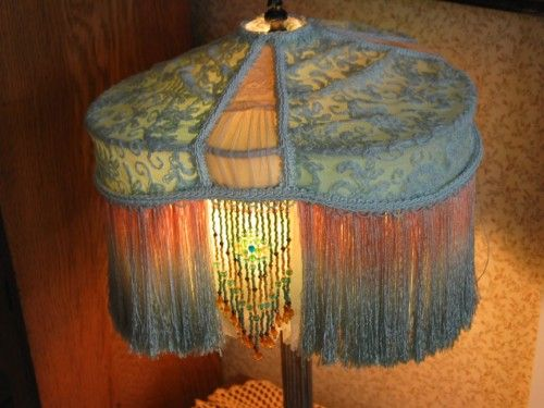 Victorian lamp shade with antique teal lace lamps pinterest victorian lamp shade with antique teal lace mozeypictures Gallery