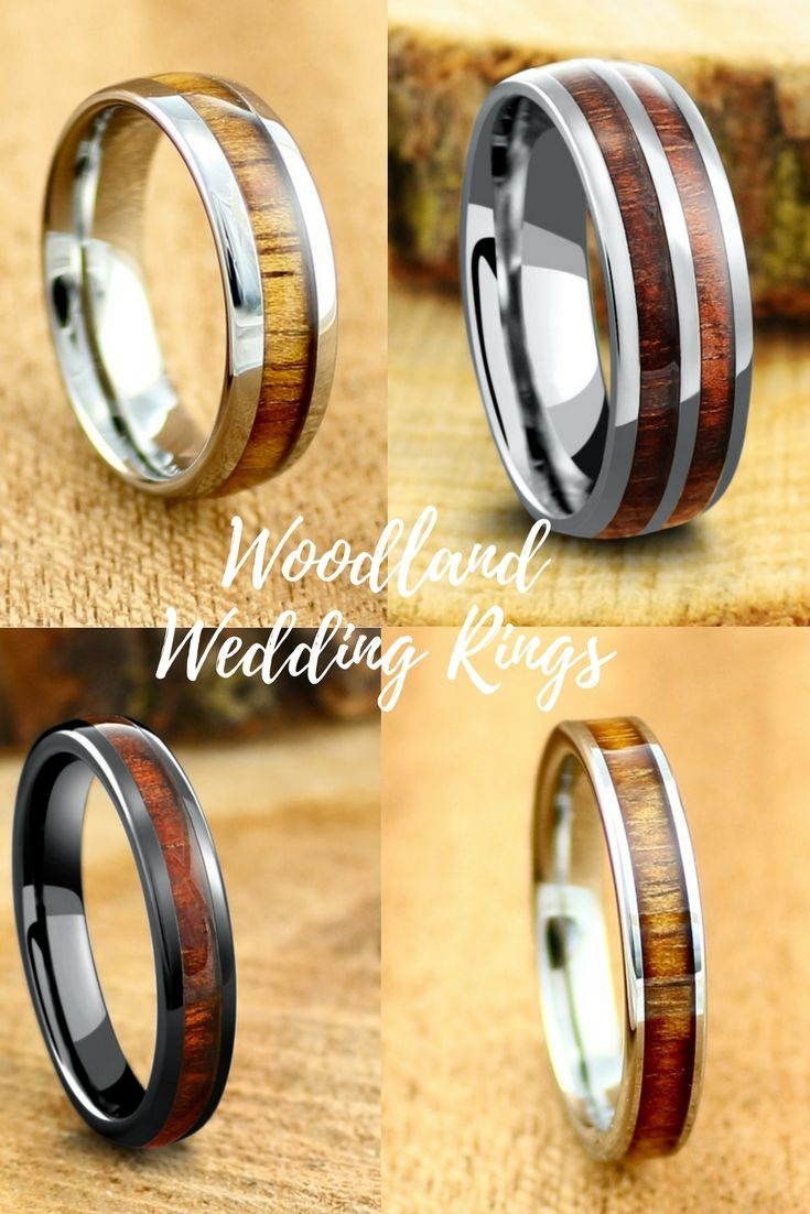Mens and womens wood wedding bands These wood rings are both
