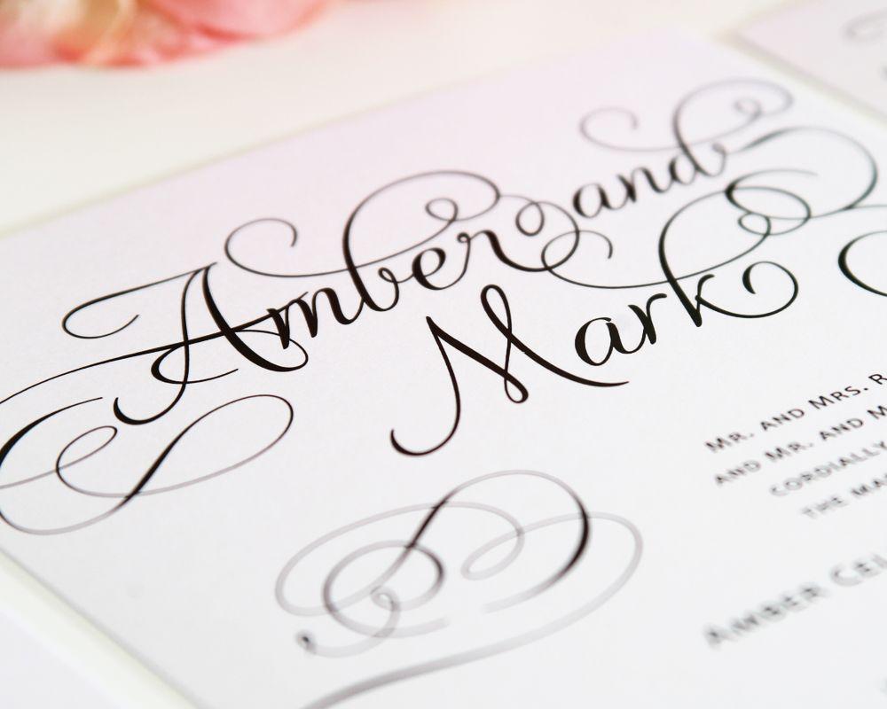 Ravishing Script Wedding Invitations | Shine wedding invitations ...