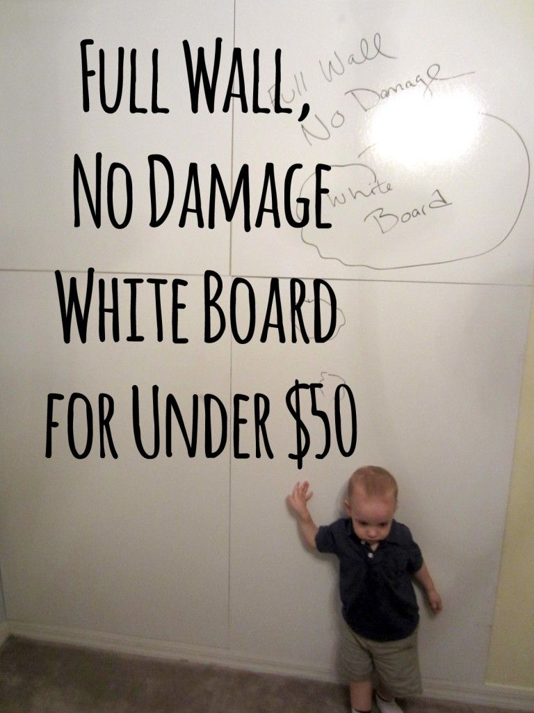 Diy No Damage Full Wall White Board For Under 50