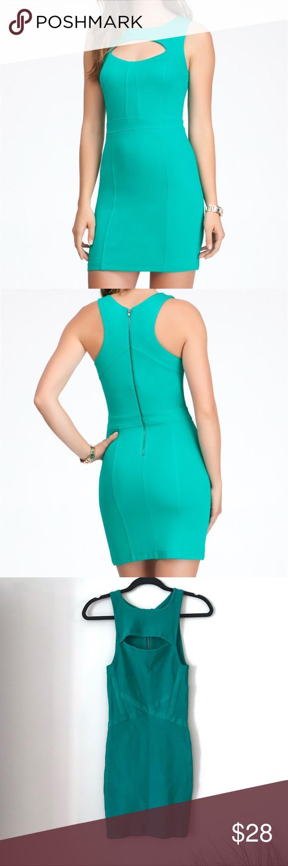 Bebe Green Cutout Bustier Bodycon Dress Small Bodycon Dress Bebe Dresses Bustier [ 1740 x 580 Pixel ]