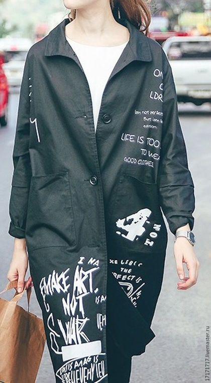 1bc42f86d80 Верхняя одежда ручной работы. Ярмарка Мастеров - ручная работа. Купить  Летнее пальто. Handmade. Комбинированный