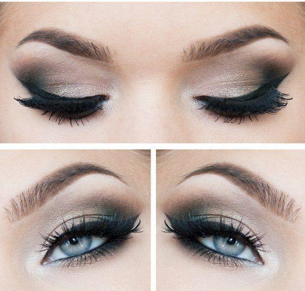Smokey eyes and Eyeliner