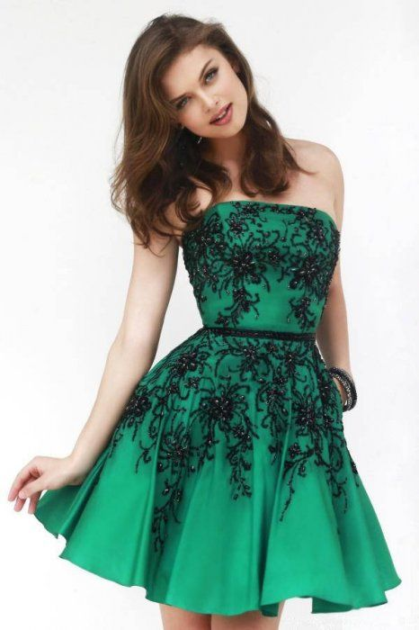 4ff1e93037 mid thigh length green formal dress - Google Search