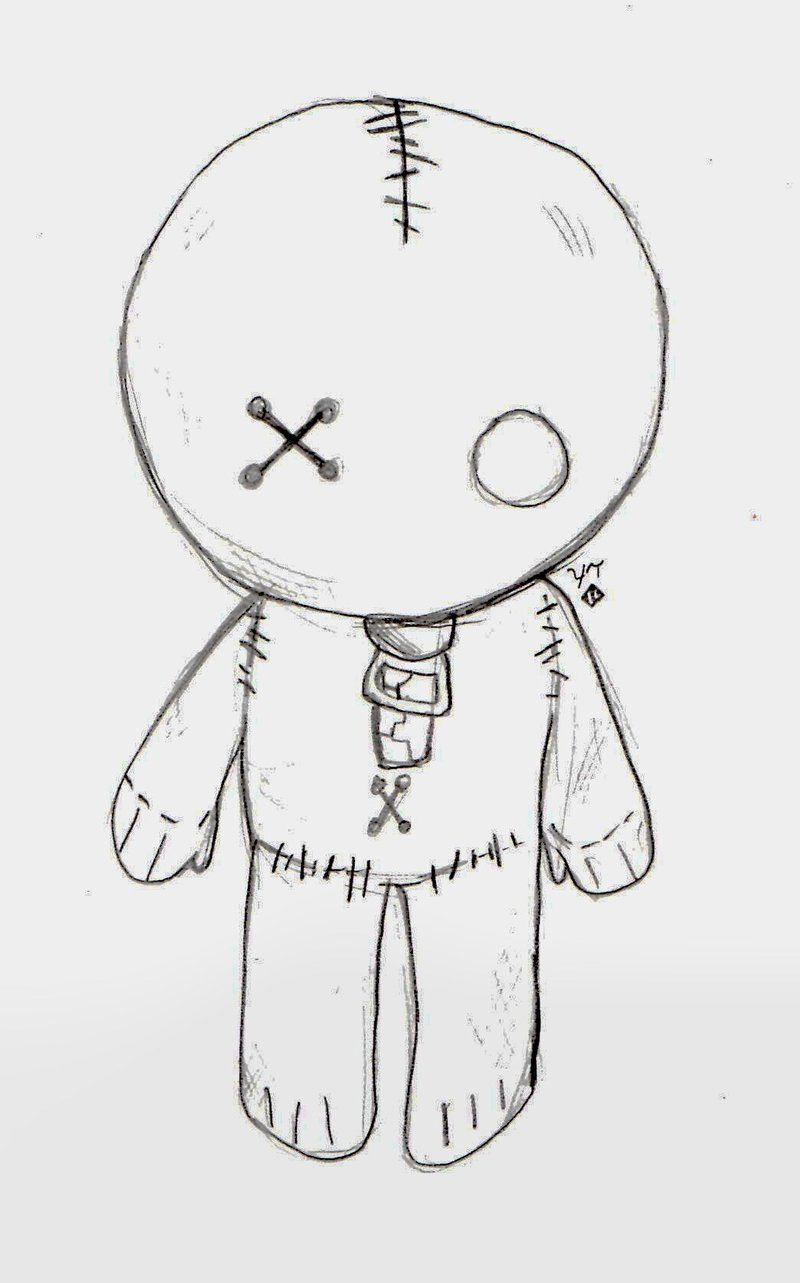 Emo doll by love of the on for Simple drawings for love