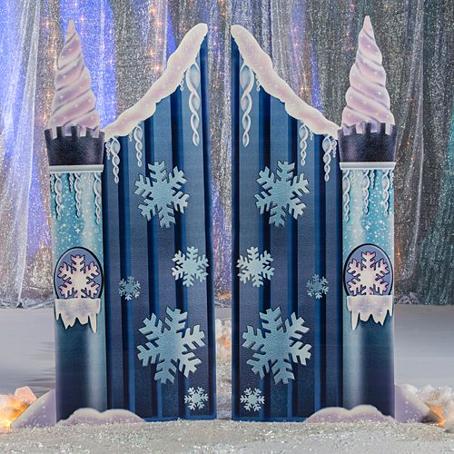 ice castle gate are perfect for your winter or holiday event this gate is 7 feet 1 inch high x 7 feet 6 inches wide - Blue Castle Decor