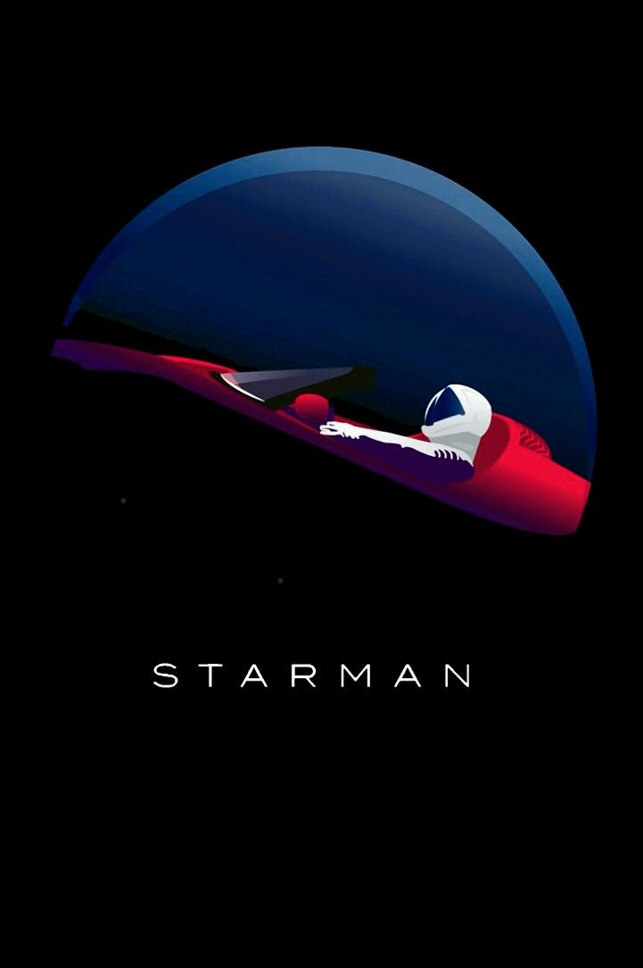 Starman Space illustration, Space art, Abstract iphone