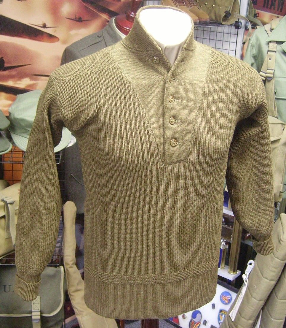 6d782b543f Military Style Sweater