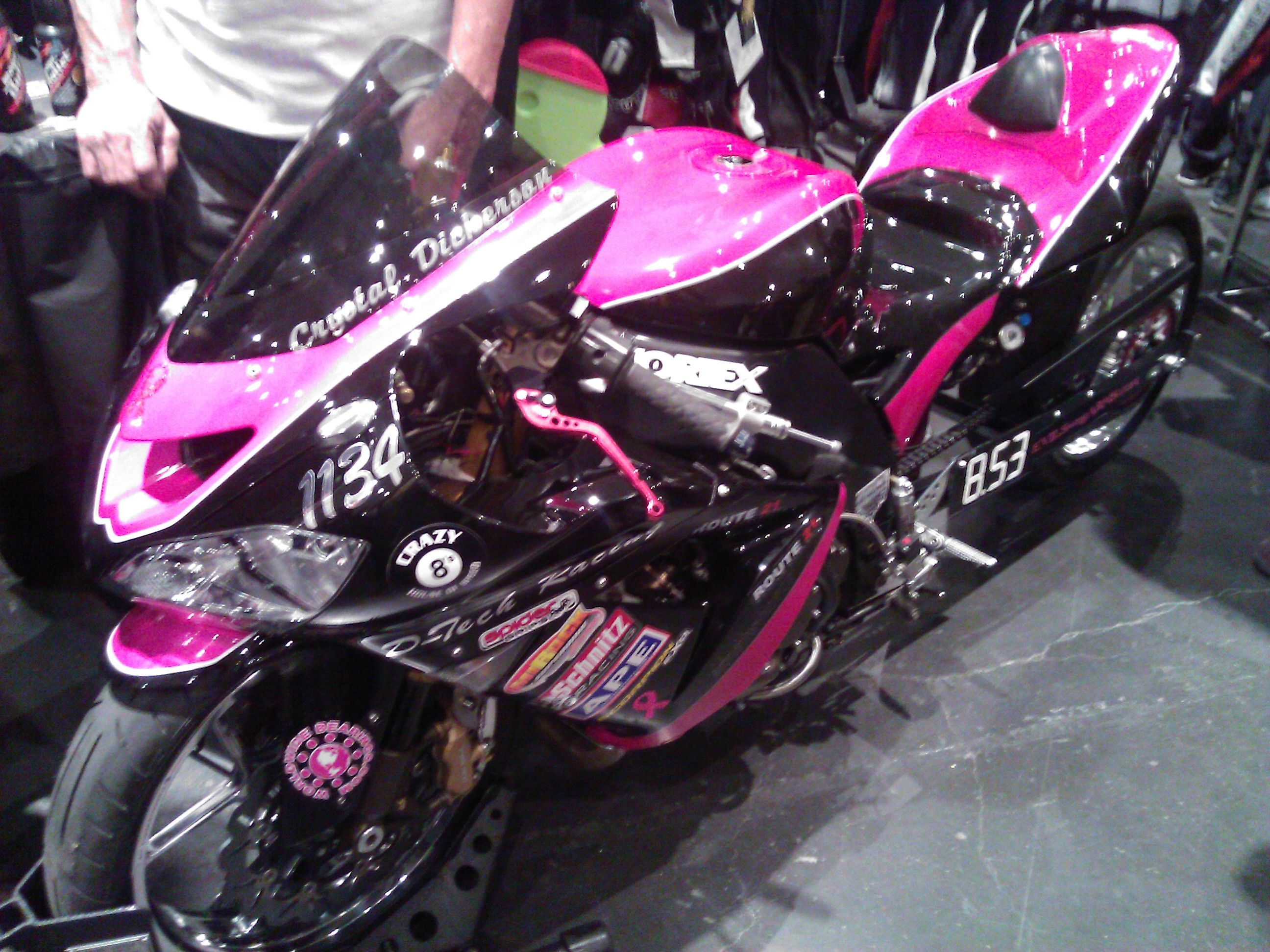 Beautiful Motorcycle Drag Racing Bike Used By Crystal Dickerson, Professional  Motorcycle Drag Racer. #NYMotorcycleShows