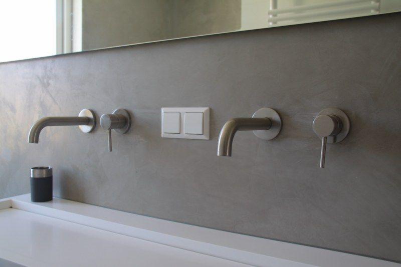 Gestucte Muur Badkamer : Mooi gestucte muur kranen badkamer bathroom