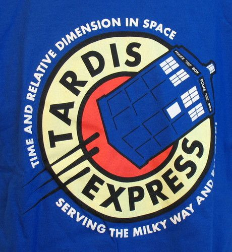 New Teefury Doctor Who Futurama Tardis Express Mens Unisex T Shirt | eBay