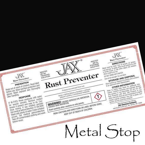 Jax Chemicals Rust Preventer 16 Ounce Bottle This Awesome Product