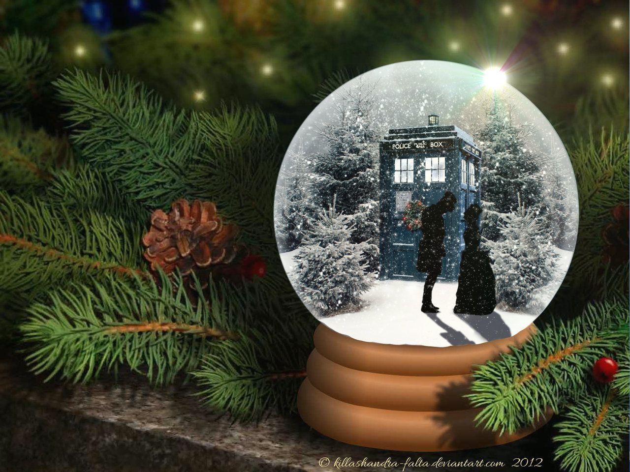 doctor who snow globe 2012 by killashandra falta deviantart com on
