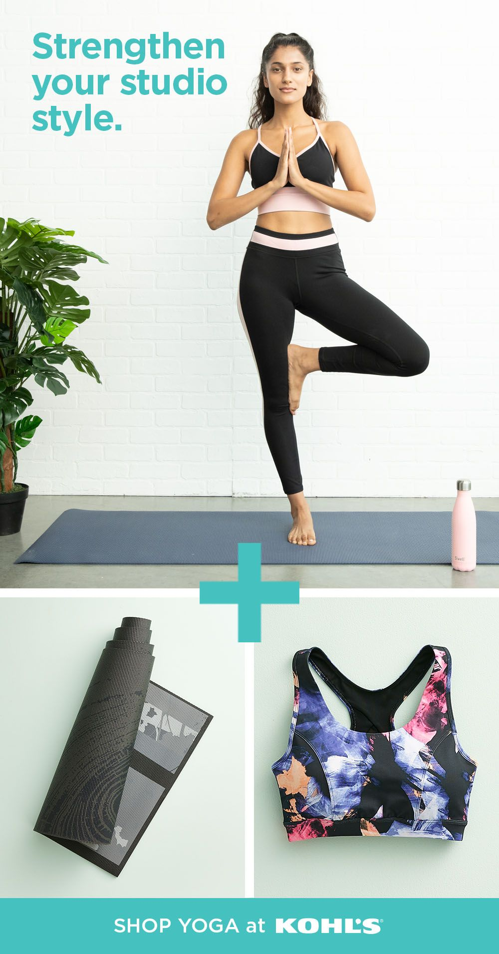 Celebrate National Yoga Month With New Yoga Essentials At Kohl S Find Leggings Sports Bras And Layering Tops Womens Yoga Clothes Local Yoga Fitness Training