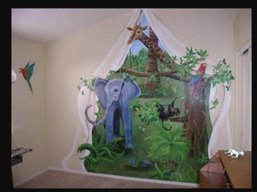 From Google Images   Nursery mural, Nursery wall murals ...