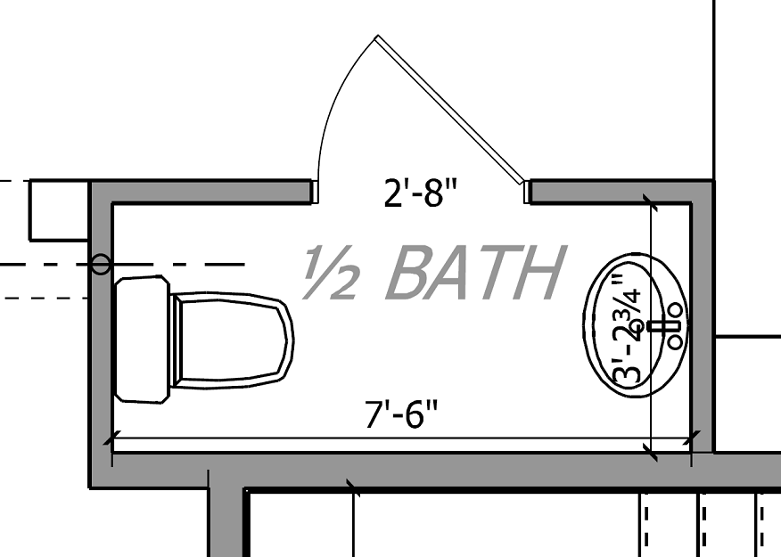 Small powder room floor plans floor plan of the room for Bathroom designs square room
