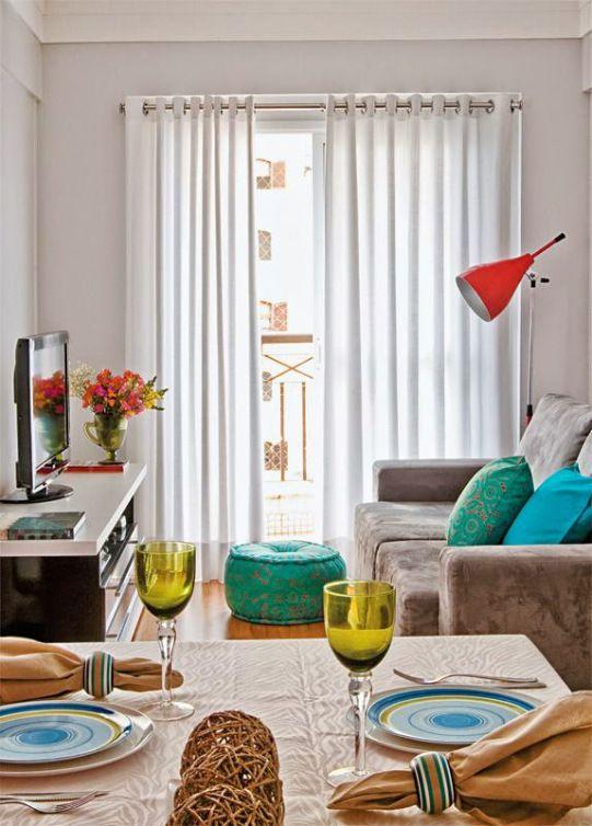 De 101 ideas de decoraci n de salas peque as modernas - Decoracion habitaciones pequenas ...