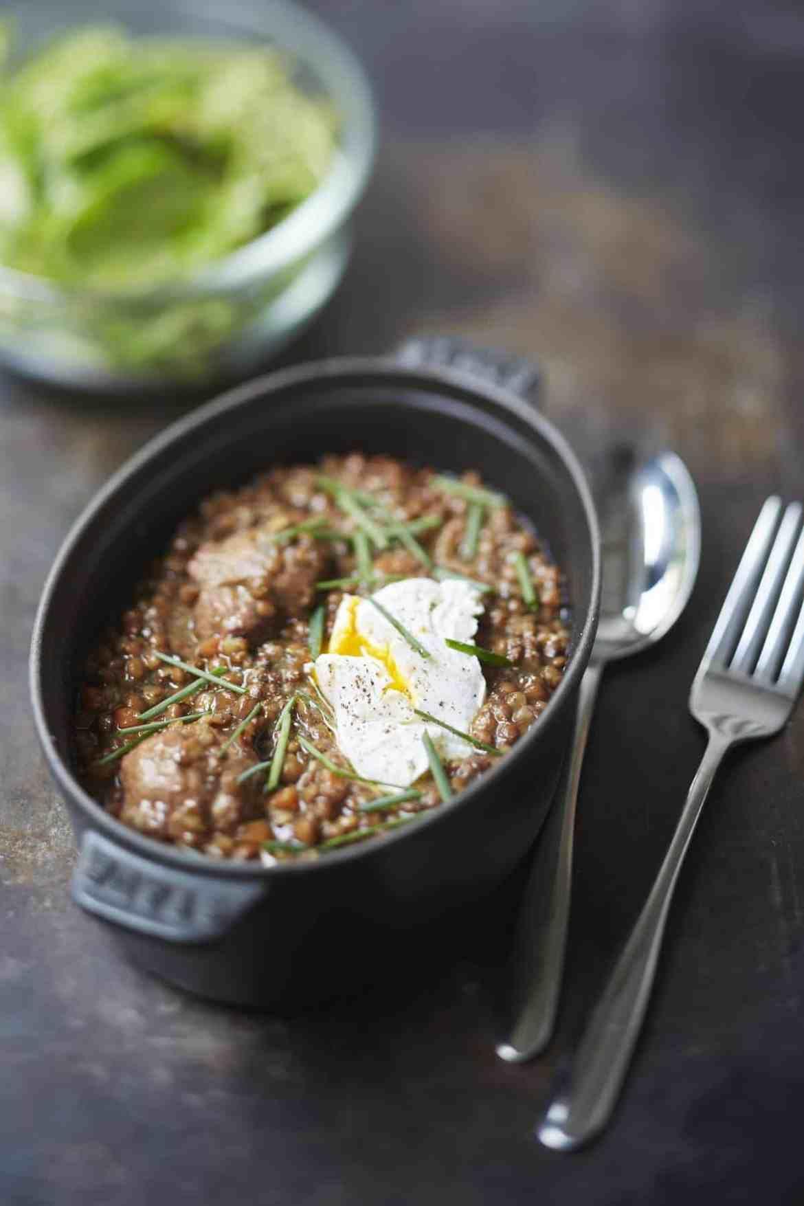 Petit sal aux lentilles uf poch coin cuisine sal petit sal lentilles coin cuisine - Petit coin cuisine ...