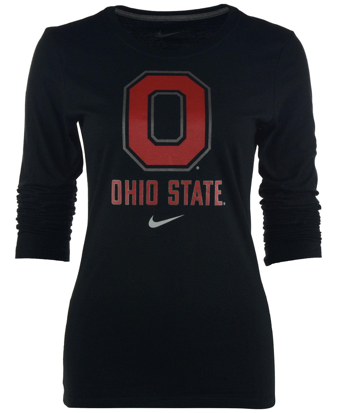 c8d8dc013ee15 Nike Women s Long-Sleeve Ohio State Buckeyes Logo T-Shirt - Sports Fan Shop  By Lids - Men - Macy s