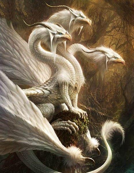 Dragon From Greek Mythology: (White) Alabaster Plumed Dragon