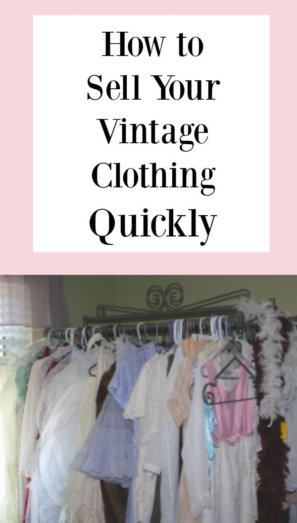 Where can you sell vintage clothing online?