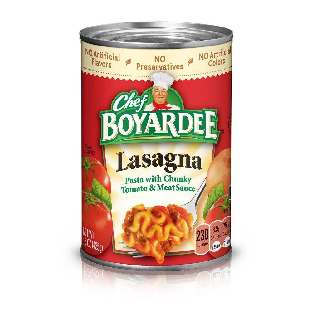 Chef Boyardee Lasagna 15 Oz Chef Boyardee Filling Snacks Spaghetti And Meatballs