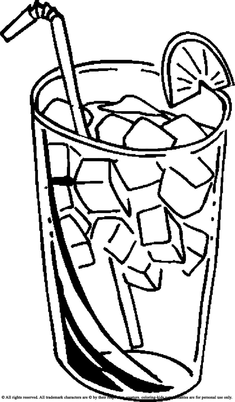 Drinking Ice Cold Juice Drinks