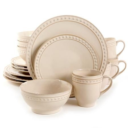 Better Homes And Gardens Amity 16 Piece Dinnerware Set Bed Bath Beyond