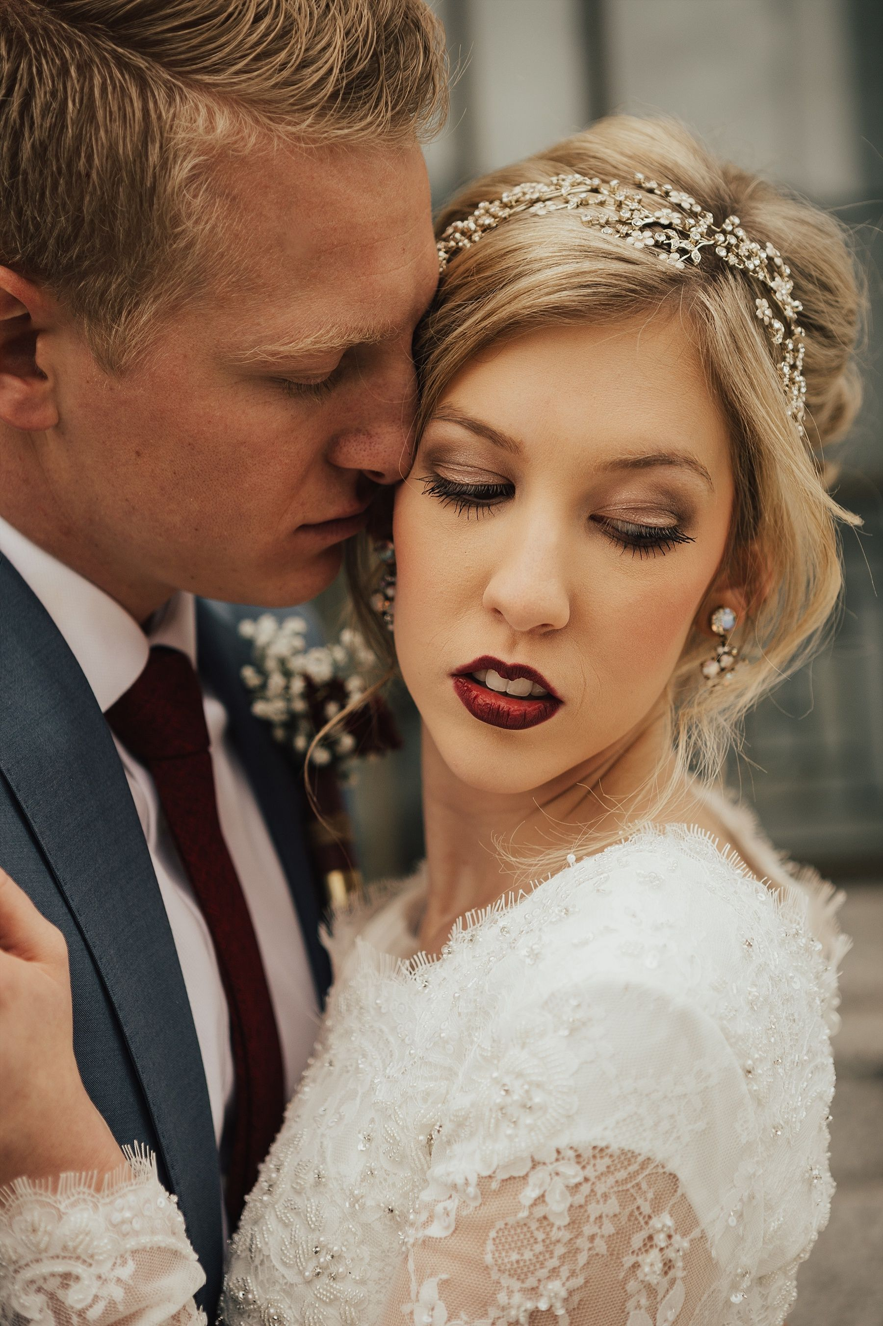 Utah Winter Wedding | Kahaia Chantal Photography | Draper Temple Joseph Smith Memorial Building | Cache Valley Photographer | Wedding Photographer Utah
