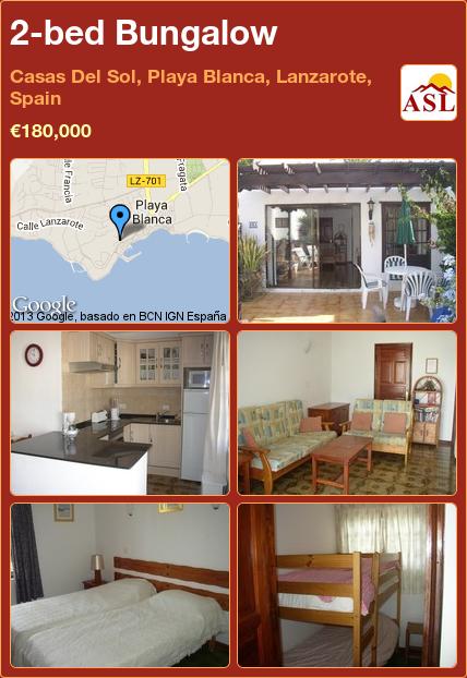 2bed Bungalow in Casas Del Sol, Playa Blanca, Lanzarote