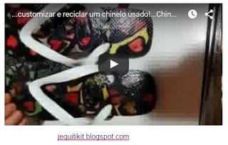 ...customizar e reciclar um chinelo usado!...Chinelos Personalizados - ... ~ jequiti encomende