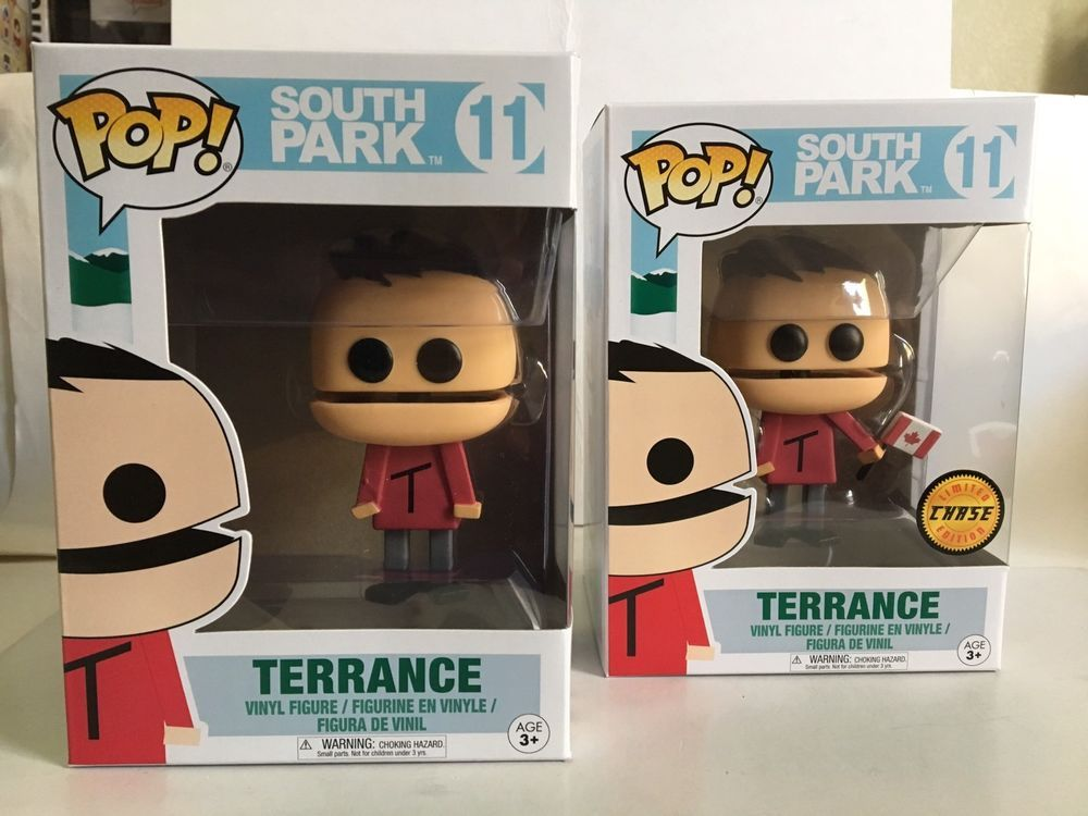 Funko Pop South Park Terrance 11 Limited Chase Edition And Common Vinyl Figures Ebay Vinyl Figures Funko Pop Vinyl Rare Funko