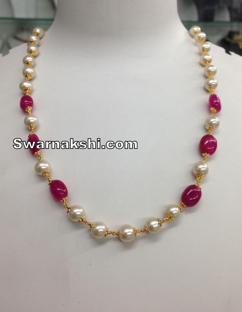 Item description pearl big red bead chain buy online type gram