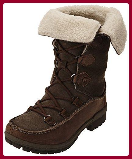Merrell EMERY LACE - Botas de nieve, talla: 36, Color negro - negro