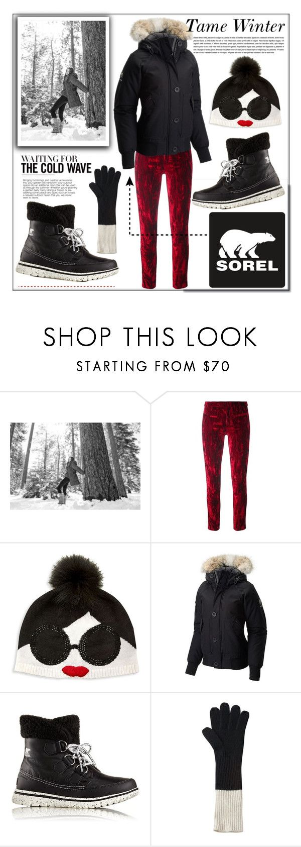 """""""Tame Winter with Sorel: Contest Entry"""" by pat912 ❤ liked on Polyvore featuring SOREL, Haider Ackermann, Alice + Olivia, polyvoreeditorial and sorelstyle"""