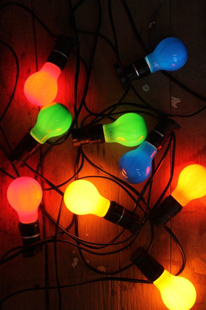 10 metre festoon string lights with coloured LED bulbs & 10 metre festoon string lights with coloured LED bulbs | netflix ...