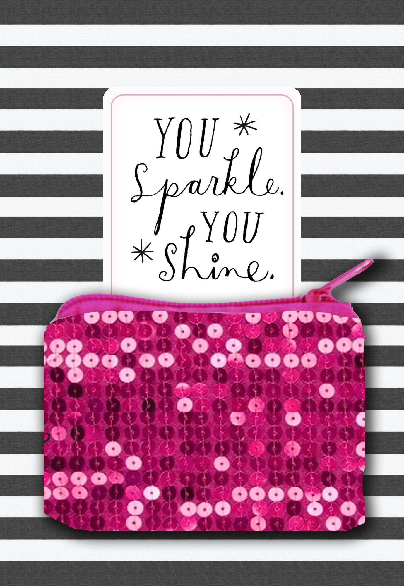 This beautiful card comes with a glittery pink coin purse for a this beautiful card comes with a glittery pink coin purse for a lady to hide her secrets signaturestyle pinterest coins and cards kristyandbryce Image collections