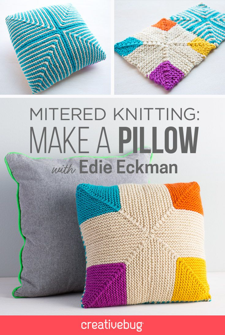 Edie eckman provides a perfect primer for mitered knitting showing