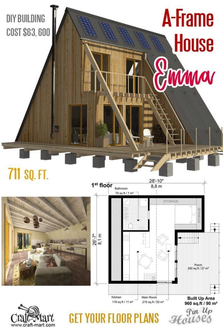 Emma Is A Very Cozy Small House Really Well Designed For Modern Living A Frame Small House Plans N Flat Roof House Unique Small House Plans Small House Plans