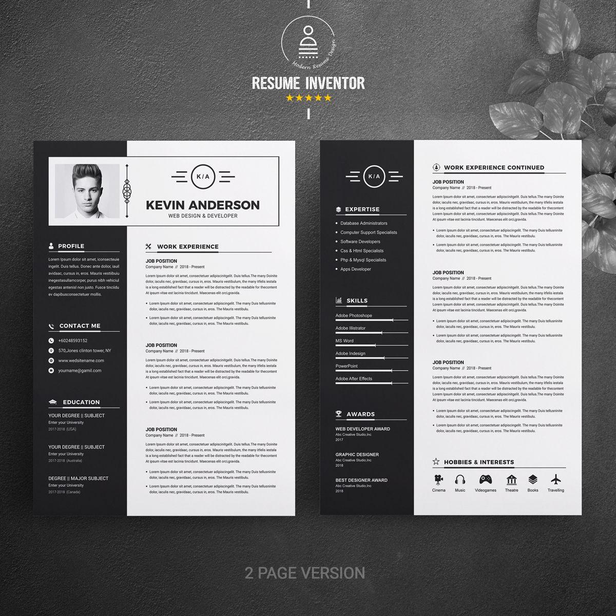 Kevin anderson resume template 74619 resume design