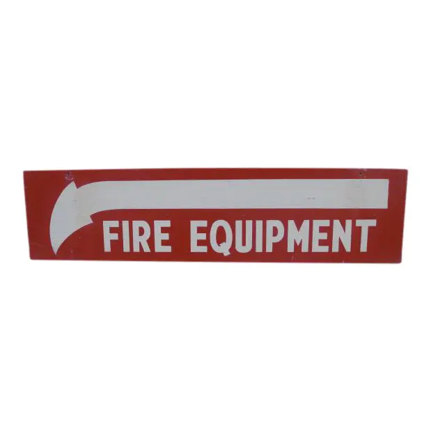 Salvaged Painted Double Sided Fire Equipment Sign Chairish In 2021 Fire Equipment Salvage Double Sided