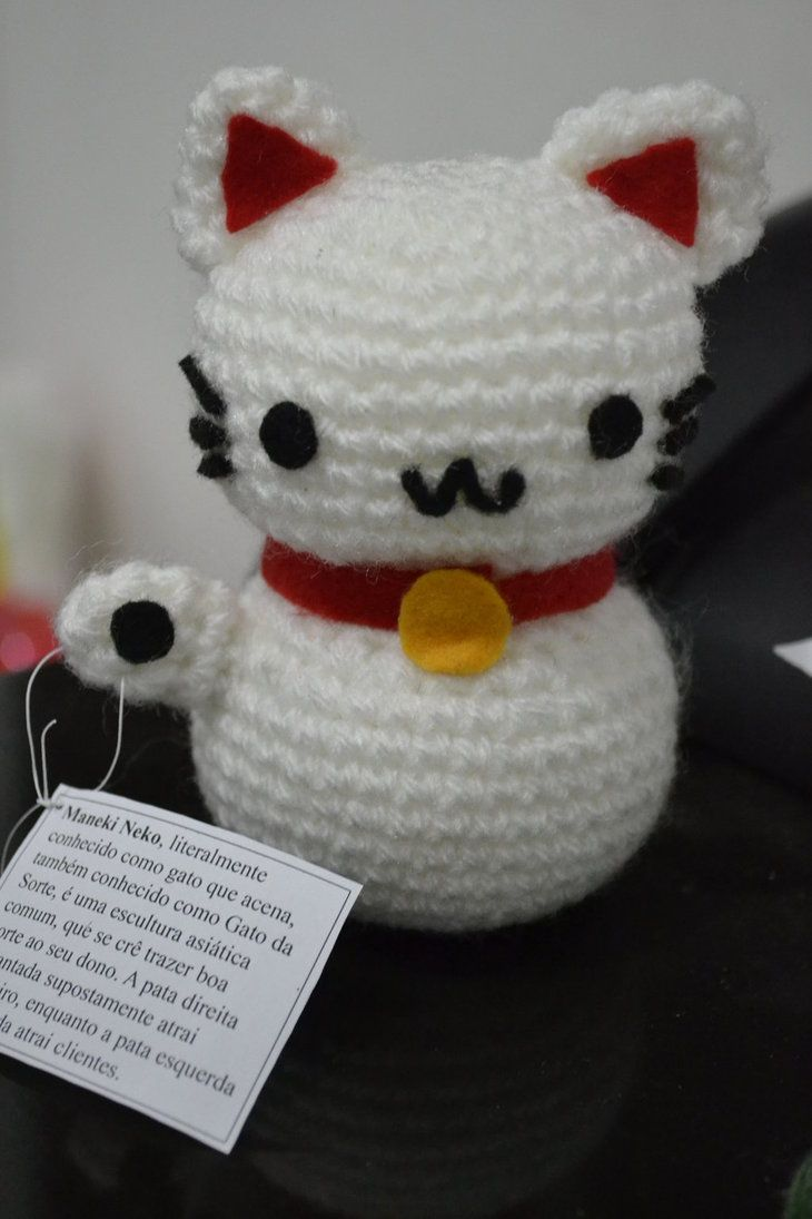 Onni the Beckoning Cat (Maneki Neko) amigurumi pattern ⋆ Crochet ... | 1095x730