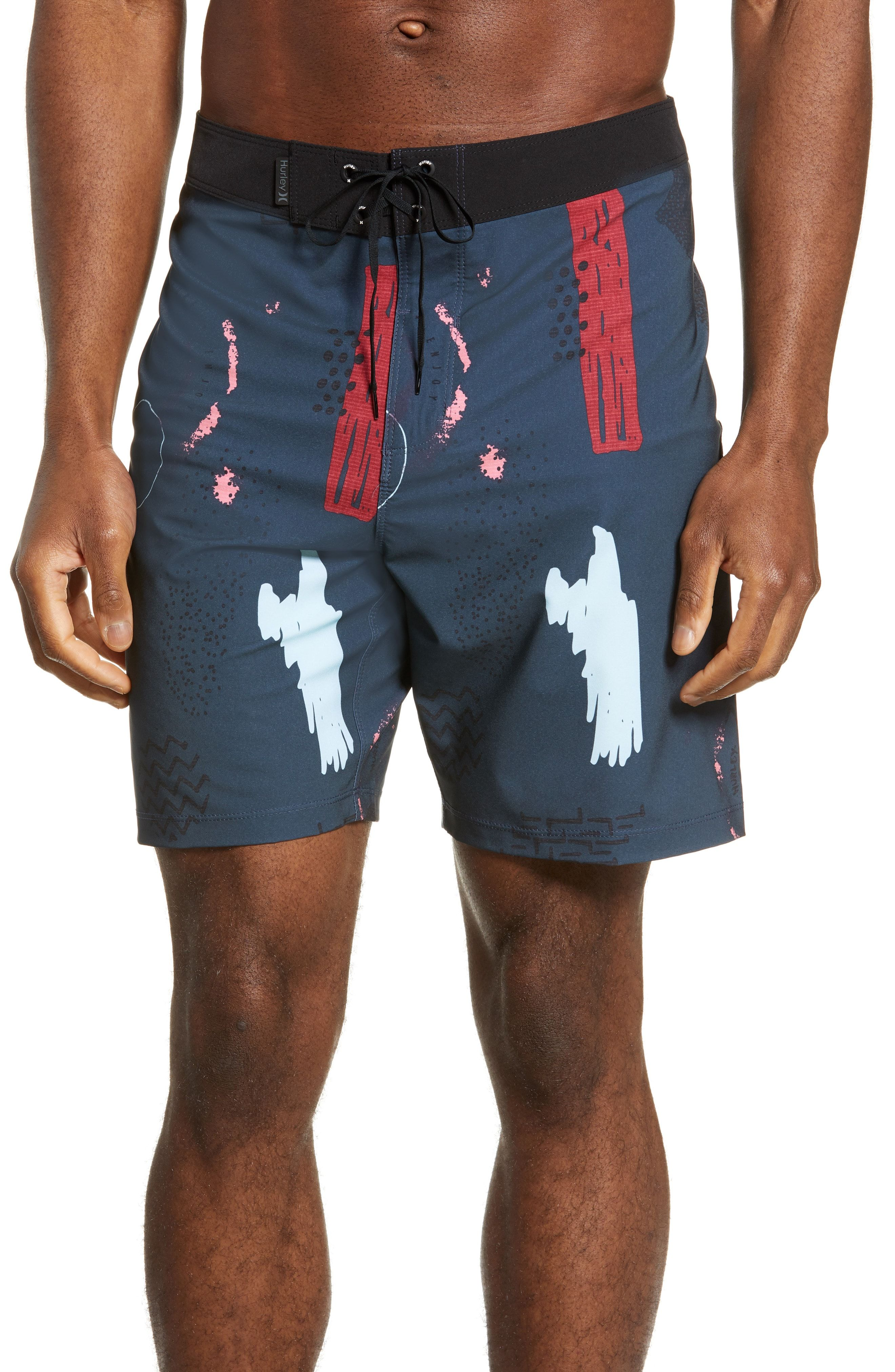 Mens Sportwear Quick Dry Board Shorts Keep Calm Swim Trunks