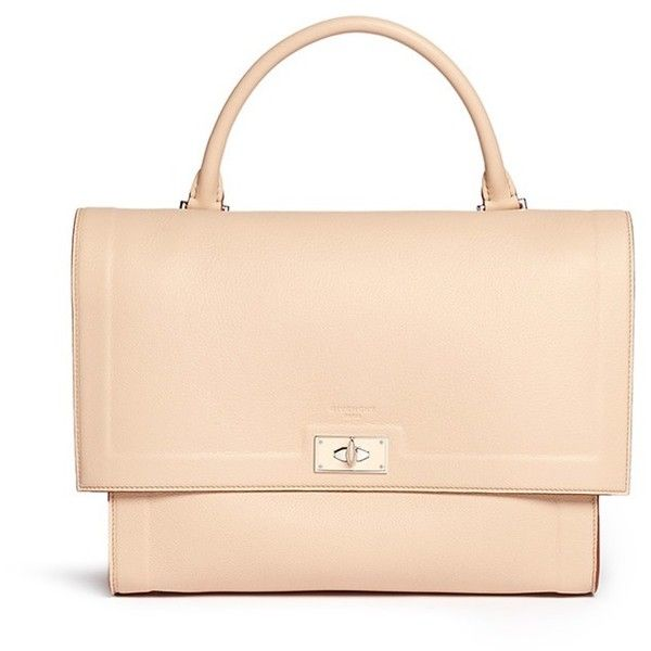 fe060878d8e Givenchy  Shark  medium leather flap bag ( 2,645) ❤ liked on Polyvore  featuring bags, handbags, Ñ ÑƒÐ¼ÐºÐ¸, purses, neutral, leather laptop purse,  givenchy ...
