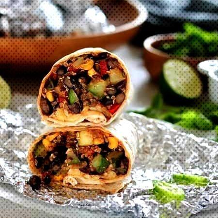 Bean and Quinoa Freezer Burritos! These make-ahead vegetarian burritos are super easy to make, load
